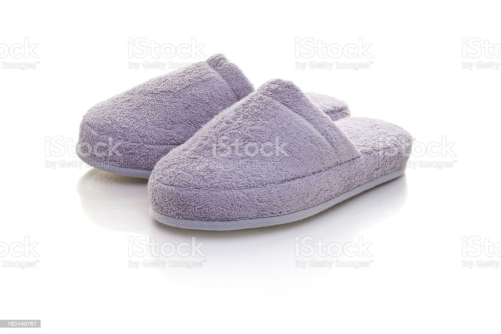 Pink Slippers royalty-free stock photo