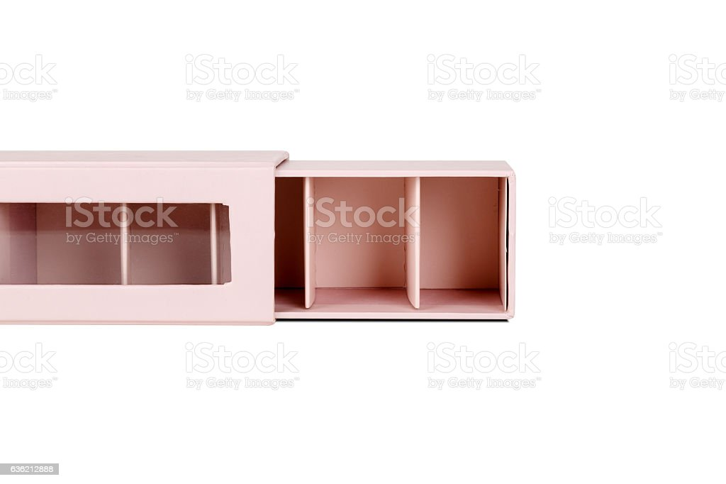 Pink Small Partitioned Box stock photo