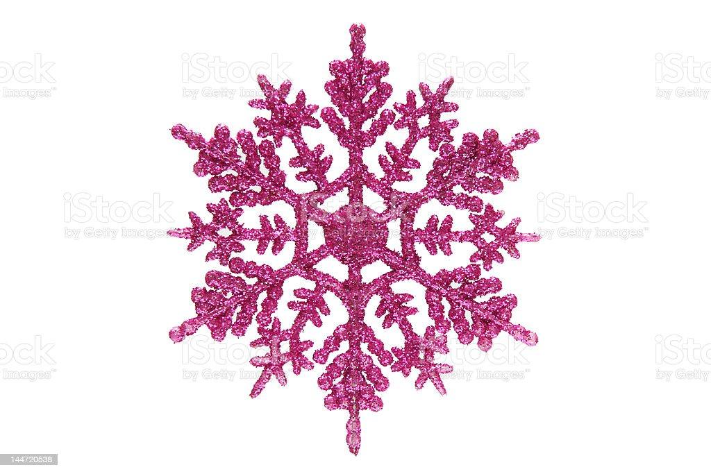 Pink snowflake royalty-free stock photo