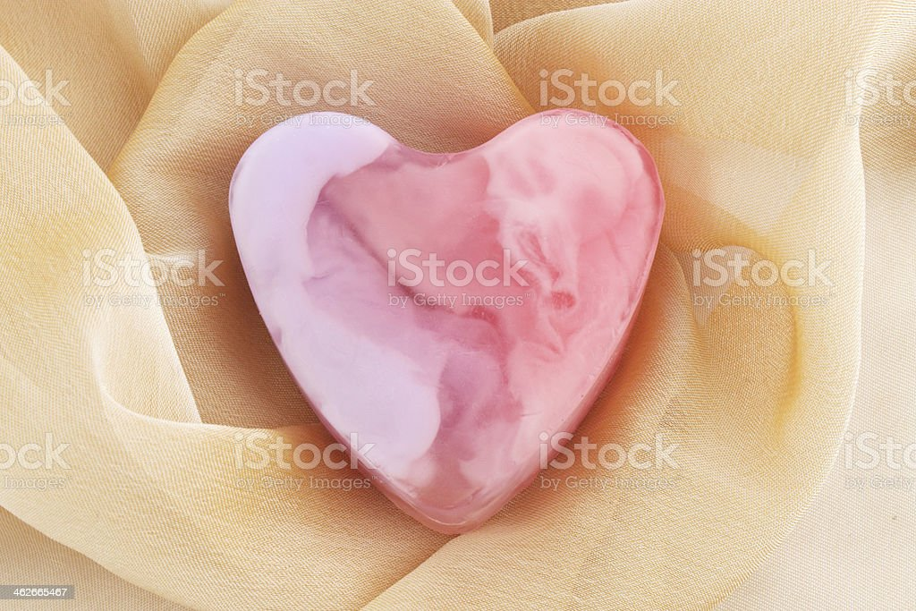 Pink soap stock photo