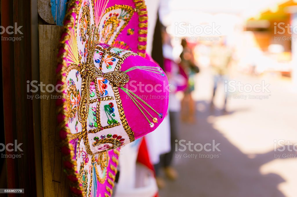 Pink Sombrero stock photo