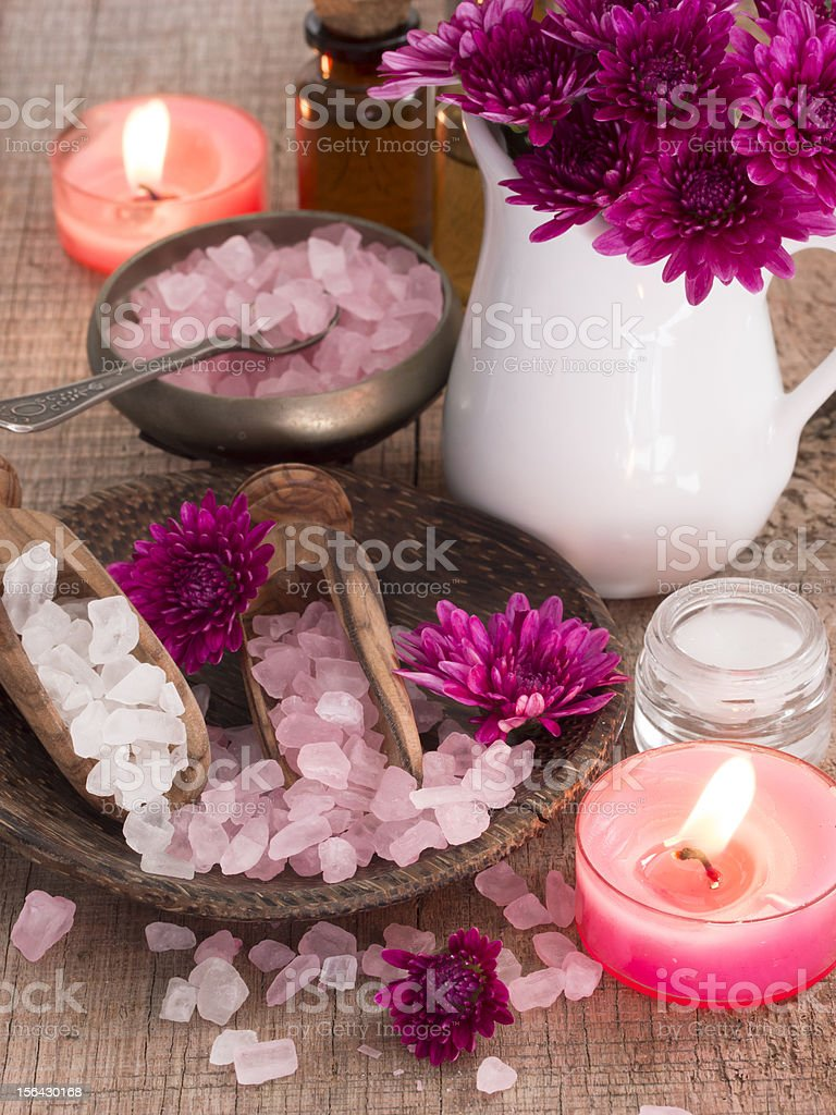 pink spa arrangement royalty-free stock photo