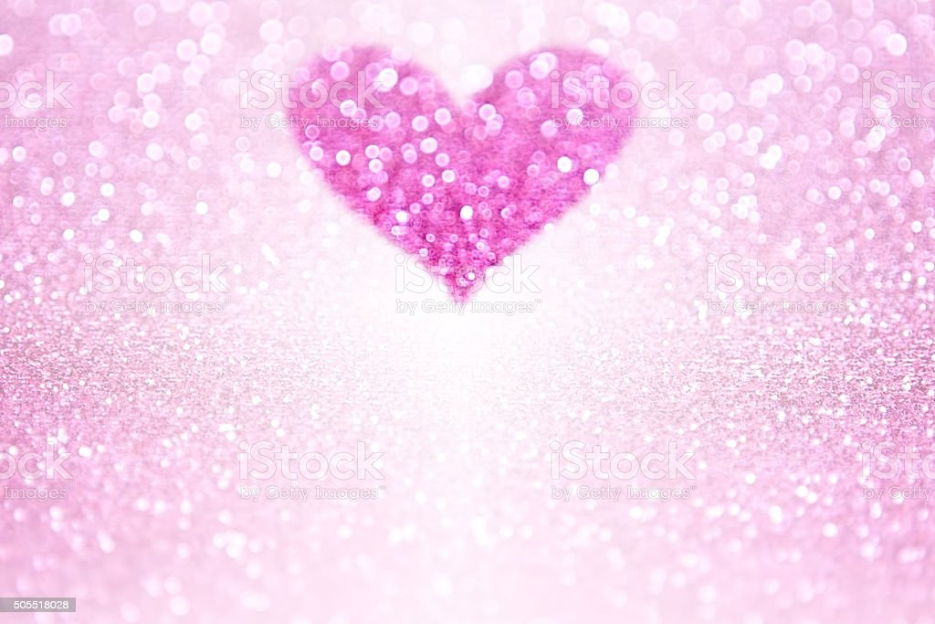 Pink Sparkle Glitter Heart Party Invite stock photo