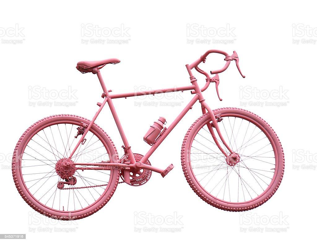 pink sport bike on white background stock photo