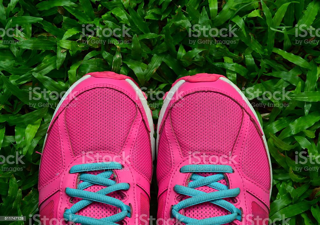Pink Sport Shoe stock photo