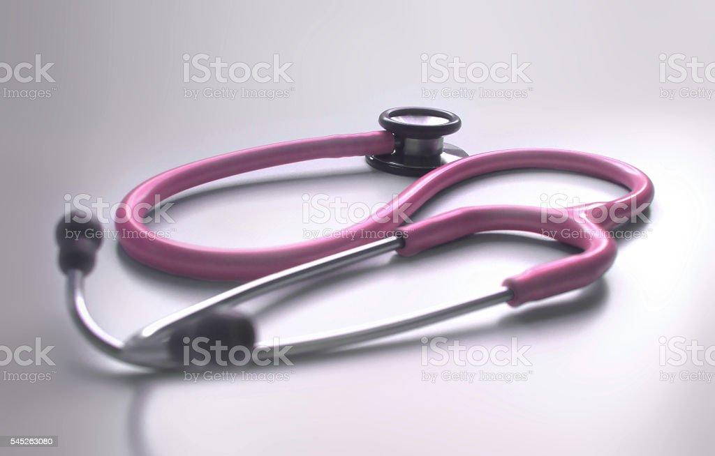 Rosa estetoscopio foto de stock libre de derechos