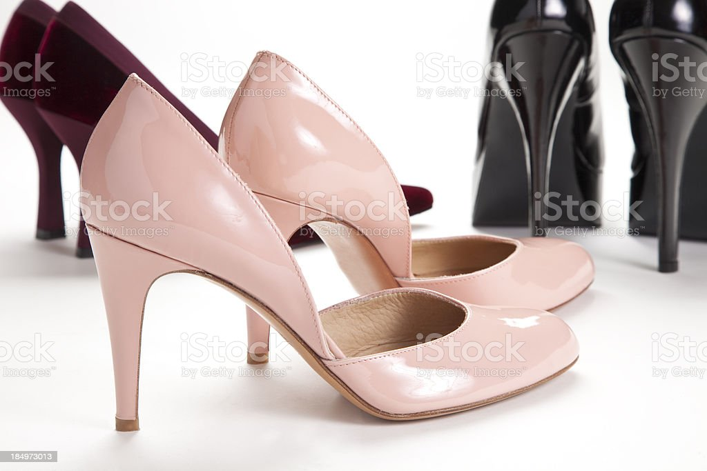 Pink Stiletto High Heel Pumps royalty-free stock photo
