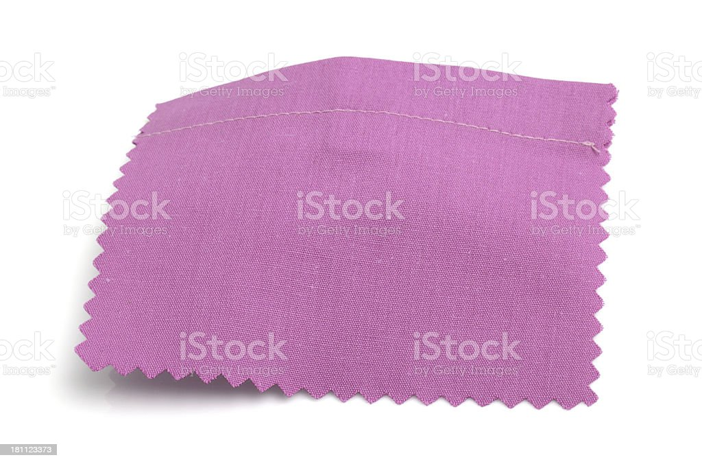 Pink Stitched Fabric Swatch royalty-free stock photo