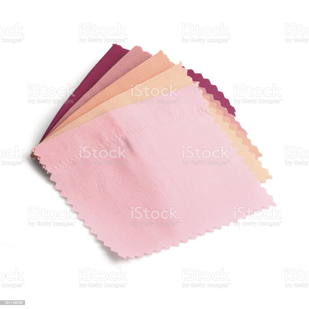 Pink Stitched Fabric Swatches royalty-free stock photo