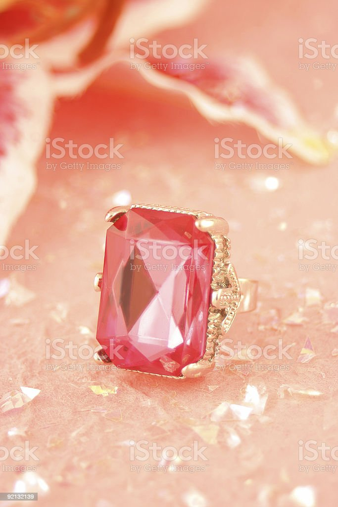 pink stone ring royalty-free stock photo