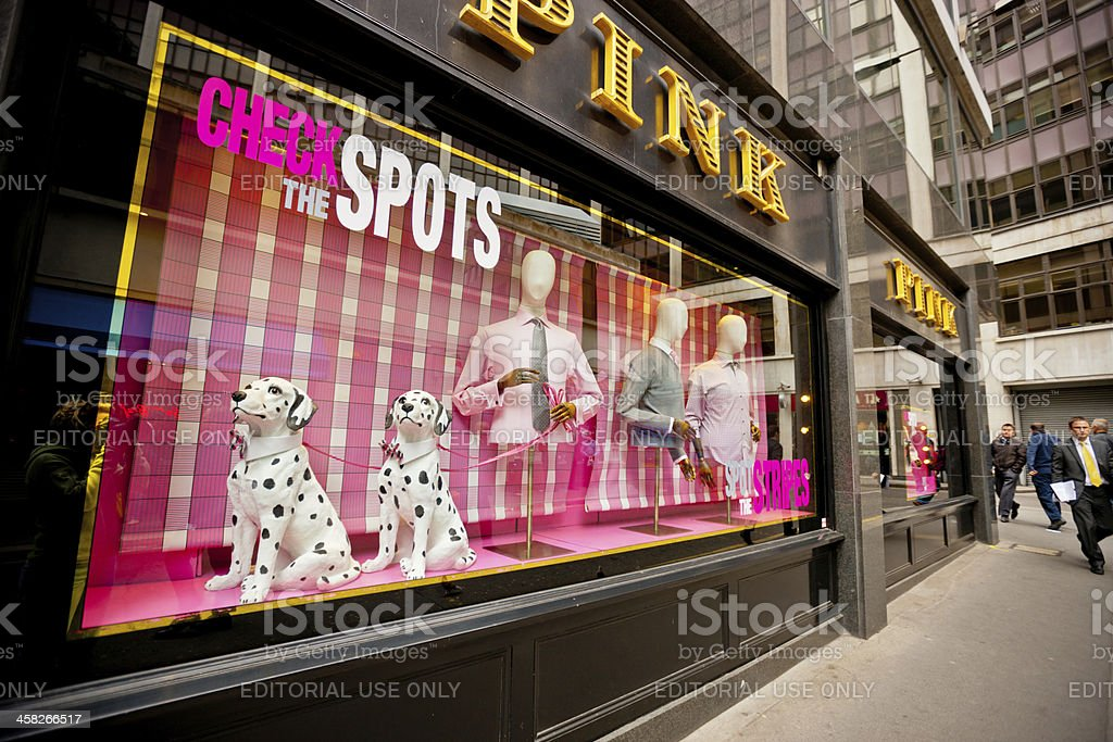 Pink Store in London, UK royalty-free stock photo
