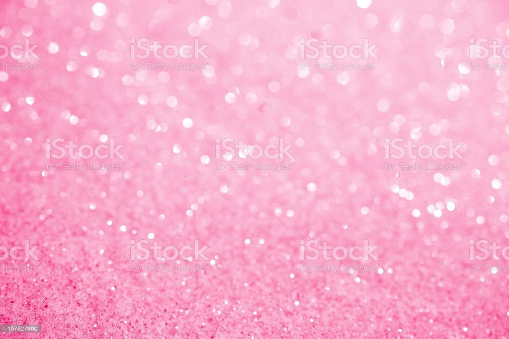 Pink Sugar Sparkle Background stock photo