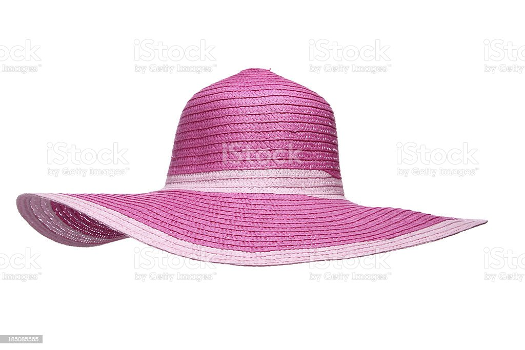 Pink Sun Hat royalty-free stock photo