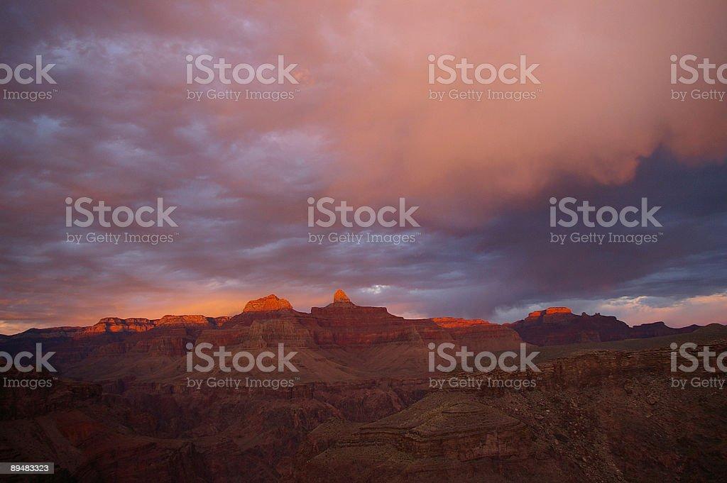 Pink Sunset at Grand Canyon stock photo