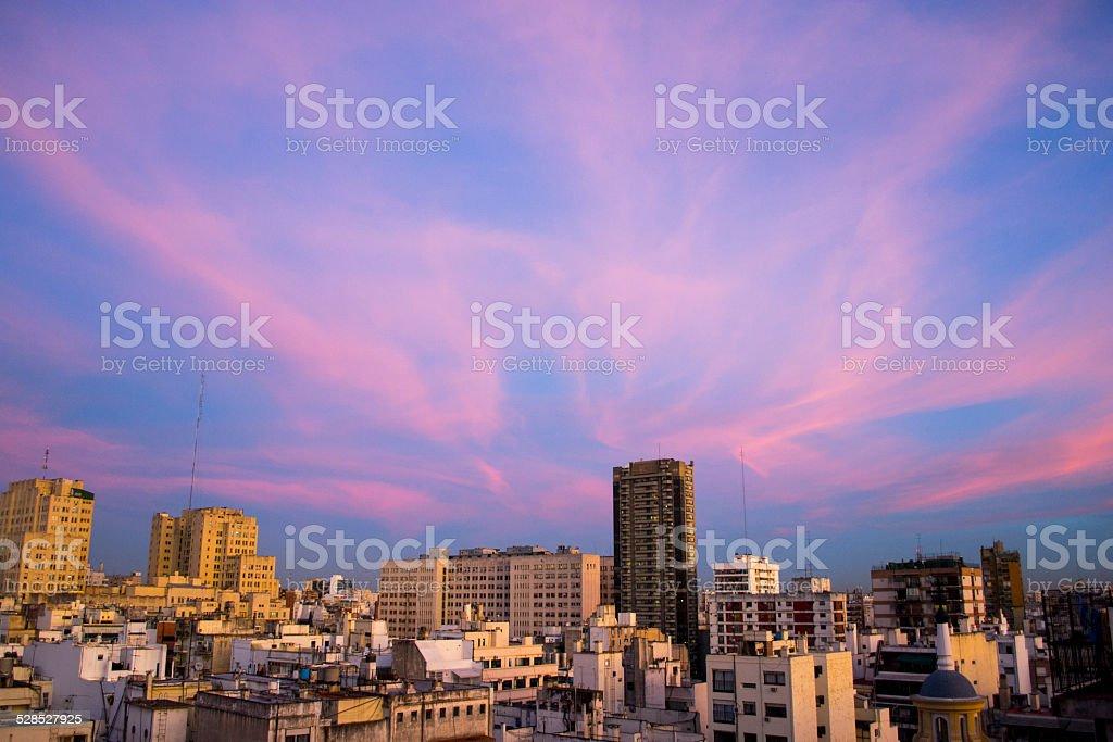 Pink sunset royalty-free stock photo