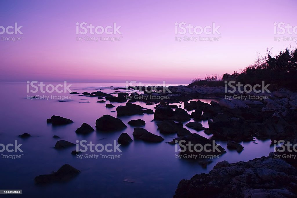 Pink Sunset royalty-free stock photo