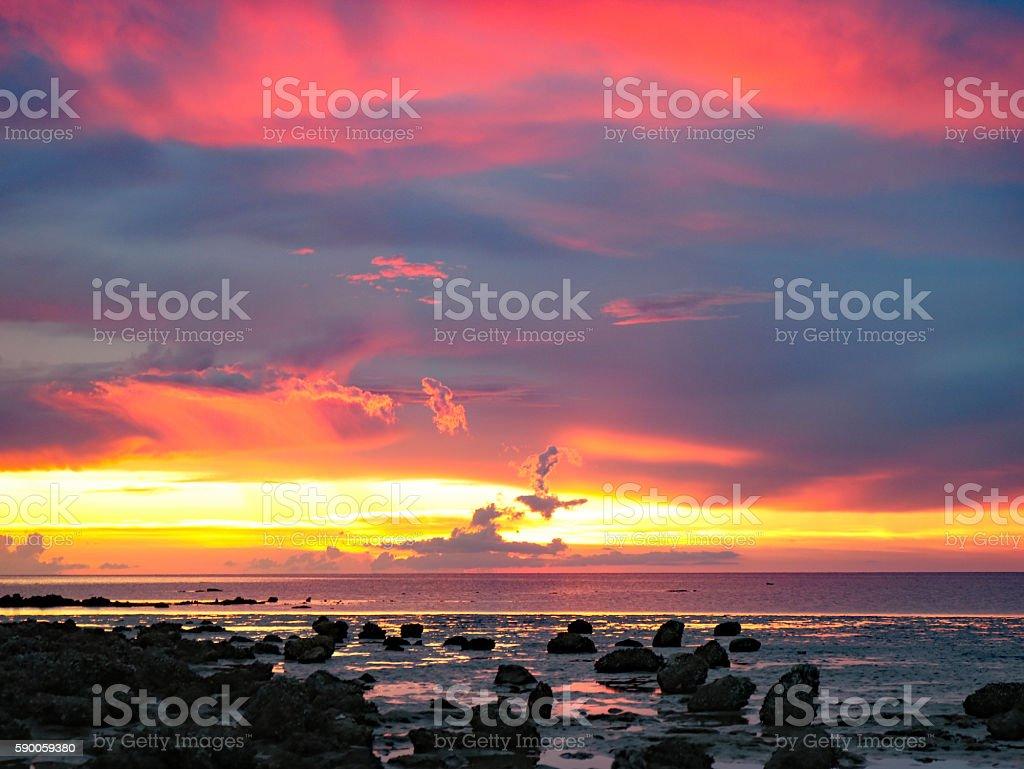 pink sunset Pine Island beach photo libre de droits