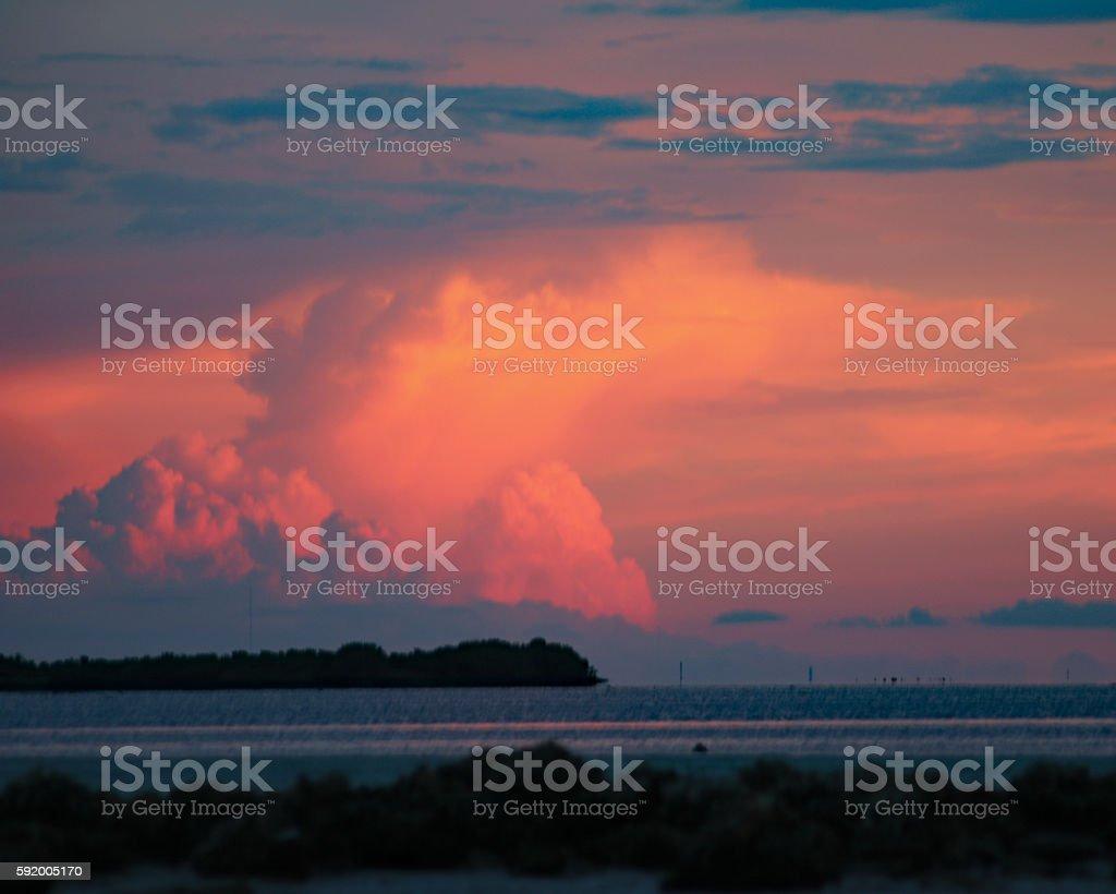 Pink sunset storm clouds photo libre de droits