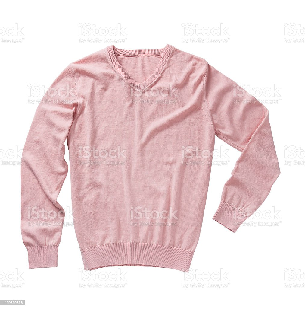 pink sweater stock photo