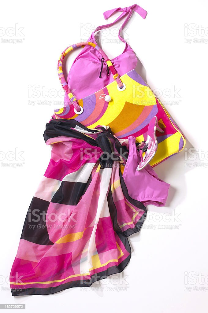 pink swim suit royalty-free stock photo