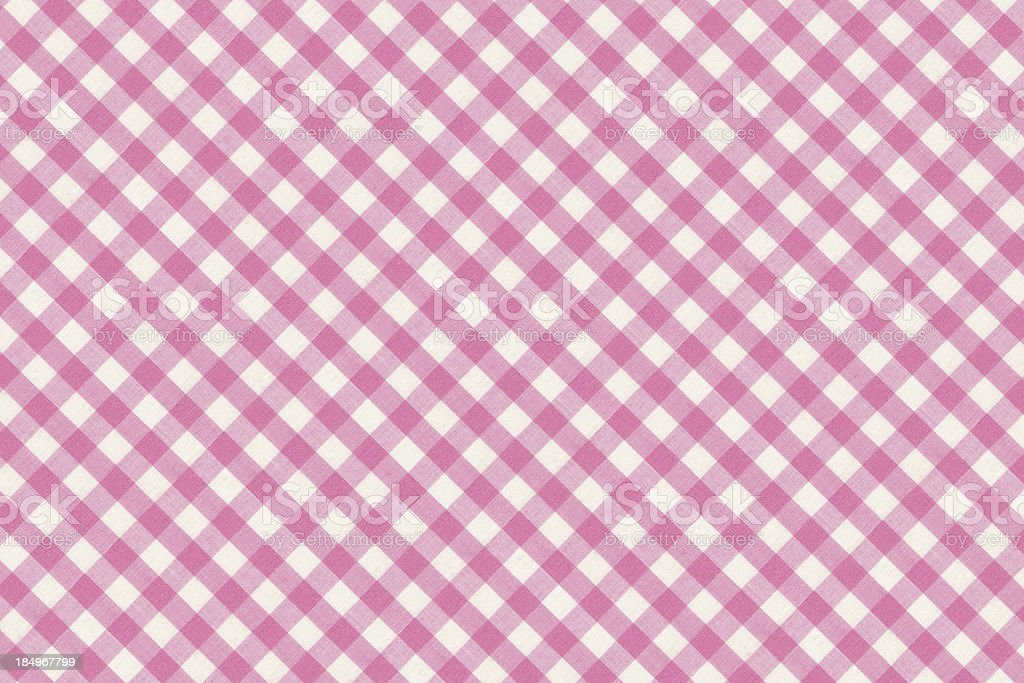 Pink Table Cloth Gingham Fabric royalty-free stock photo