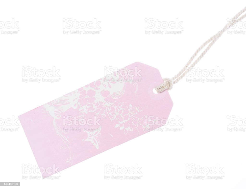 Pink tag royalty-free stock photo