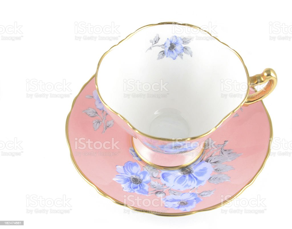 Pink Tea Cup royalty-free stock photo