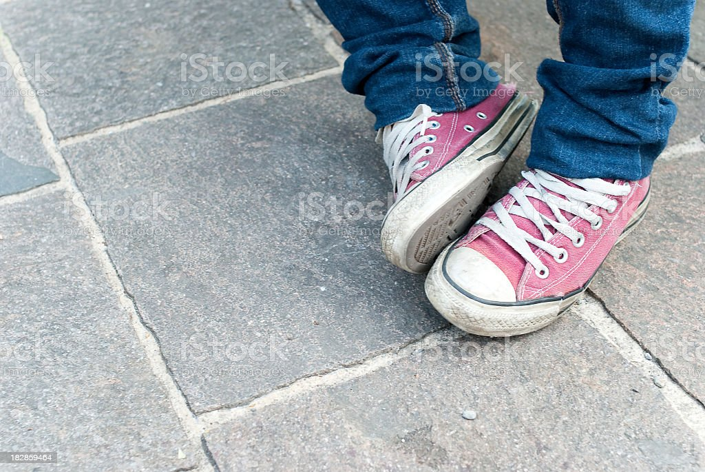 Pink  Teenager's Shoes royalty-free stock photo