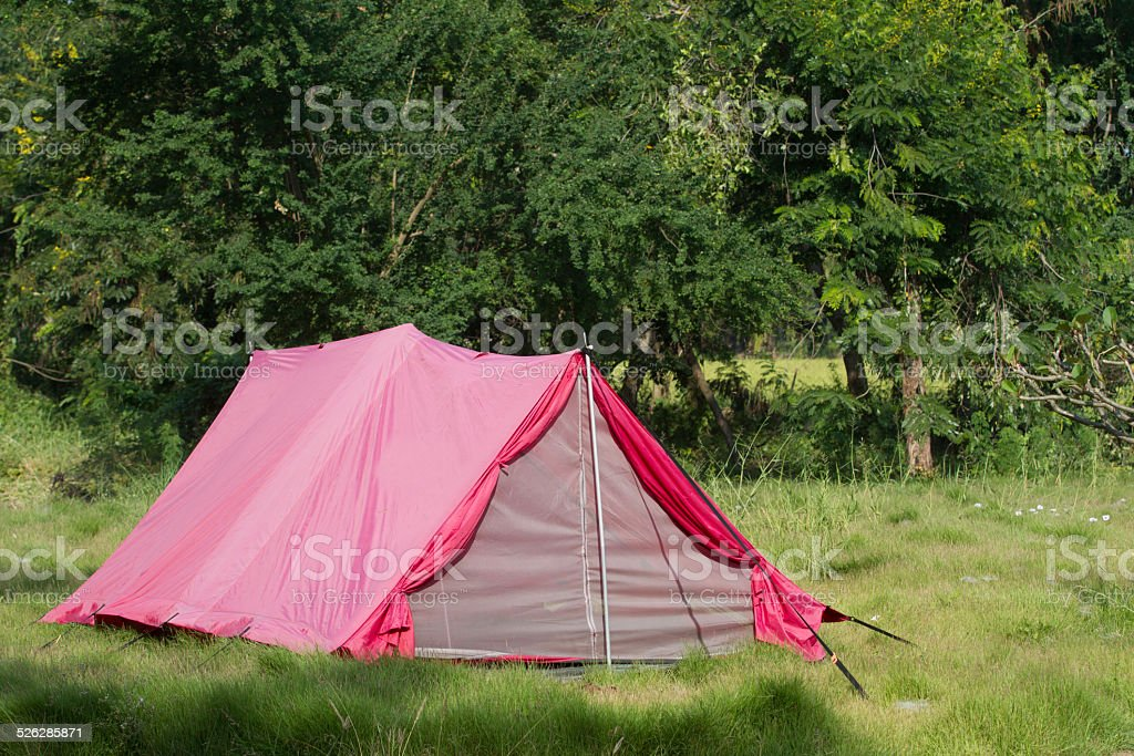 Pink tent stock photo