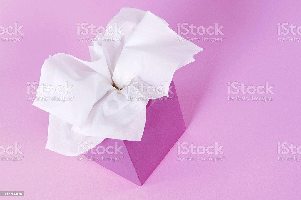 Pink tissue box royalty-free stock photo