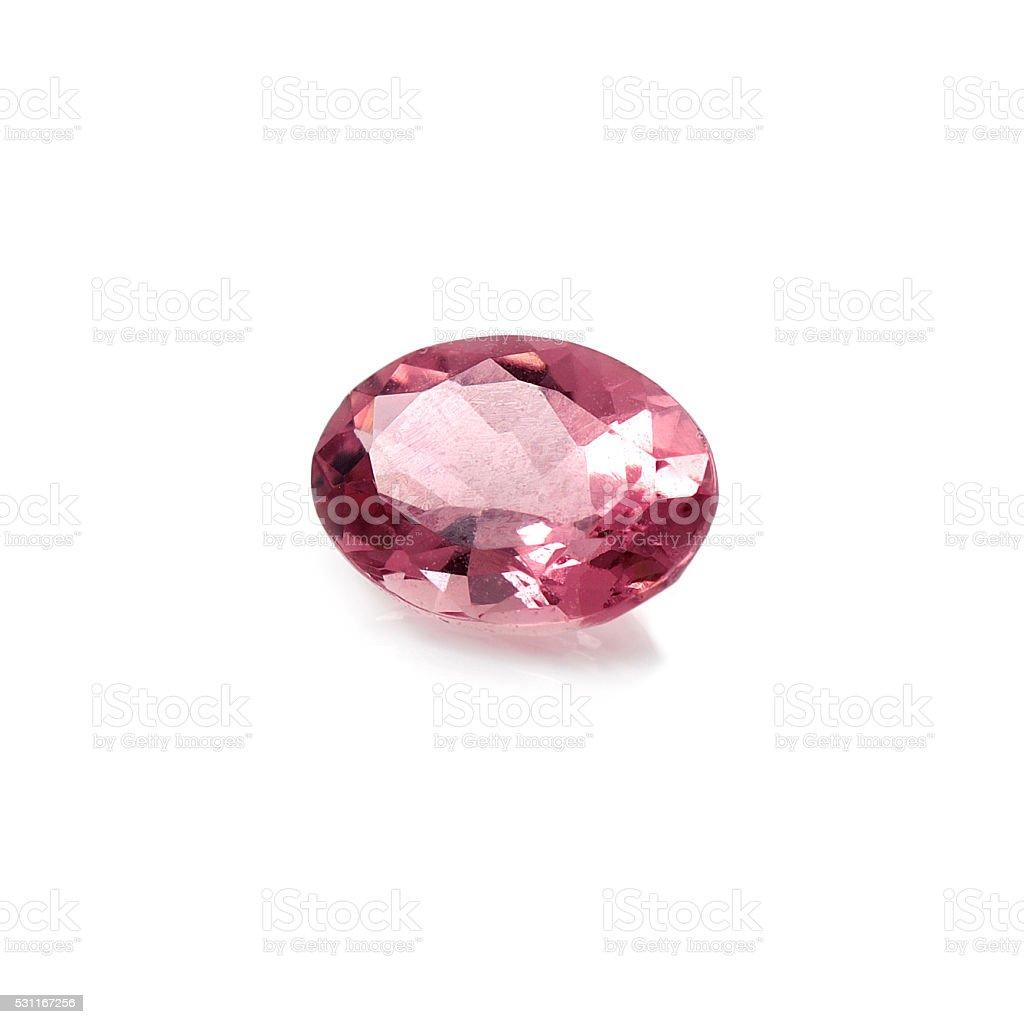 Pink Tourmaline stock photo