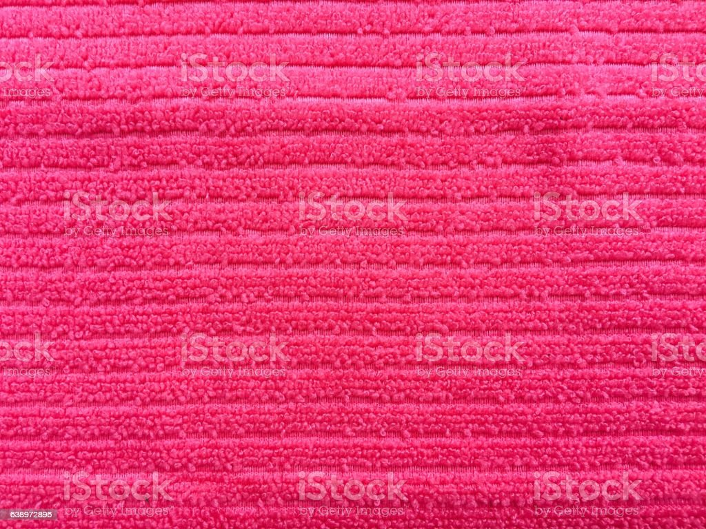 pink towel textile texture background and texture for disign stock photo