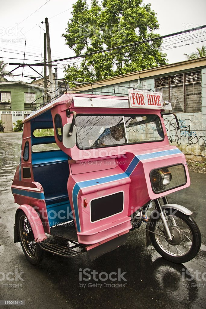 Pink Tricycle royalty-free stock photo