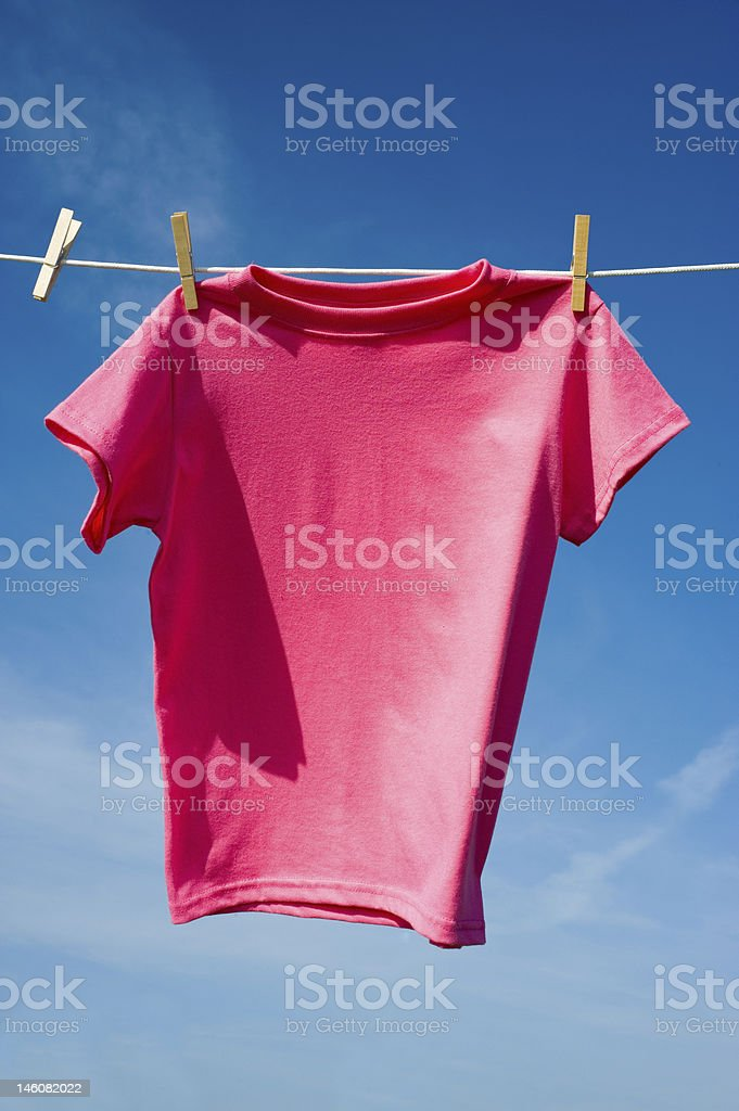 pink T-Shirt royalty-free stock photo