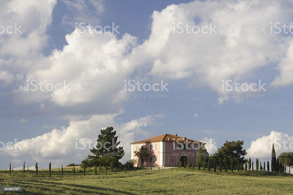 Pink Tuscany Villa royalty-free stock photo