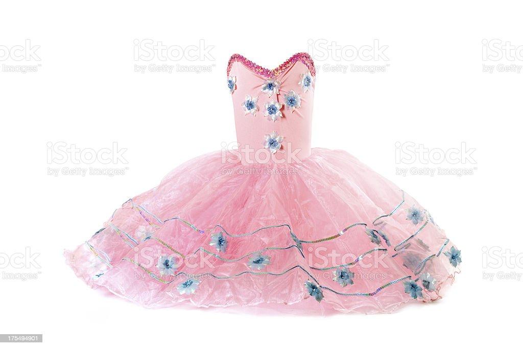 Pink tutu costume stock photo