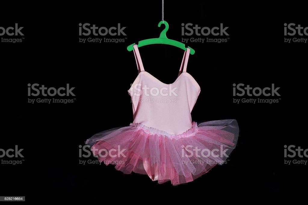 Pink tutu doll stock photo