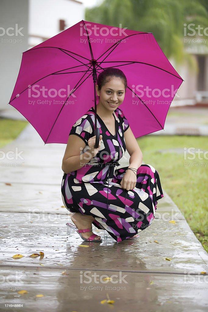 pink umbrella royalty-free stock photo