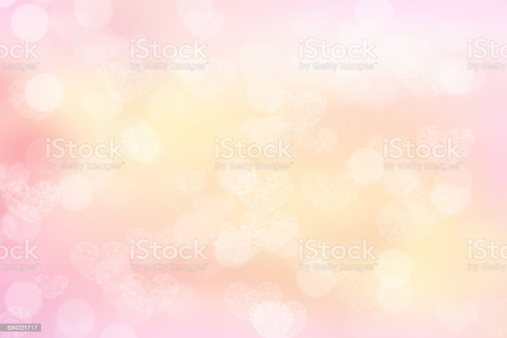pink valentine bokeh background stock photo