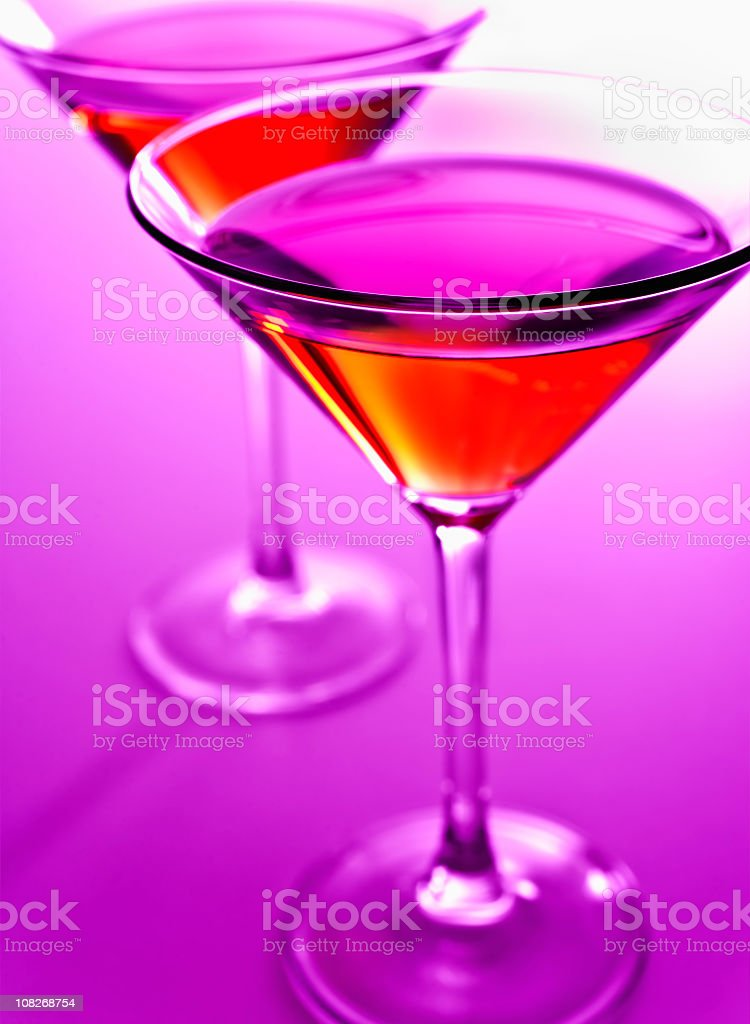 Pink Valentines Day Martini royalty-free stock photo