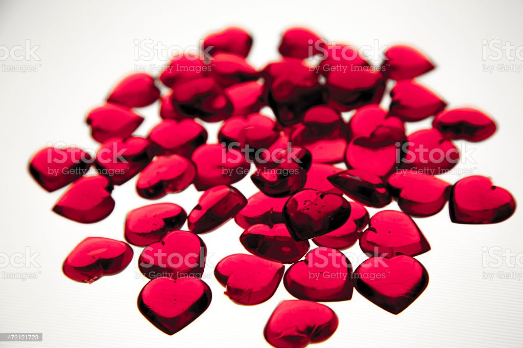 Pink Valentine's hearts royalty-free stock photo