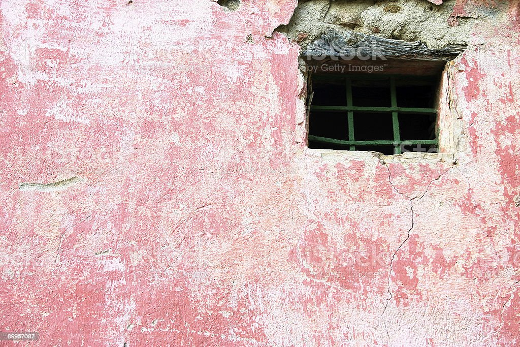 Pink wall with window royalty-free stock photo