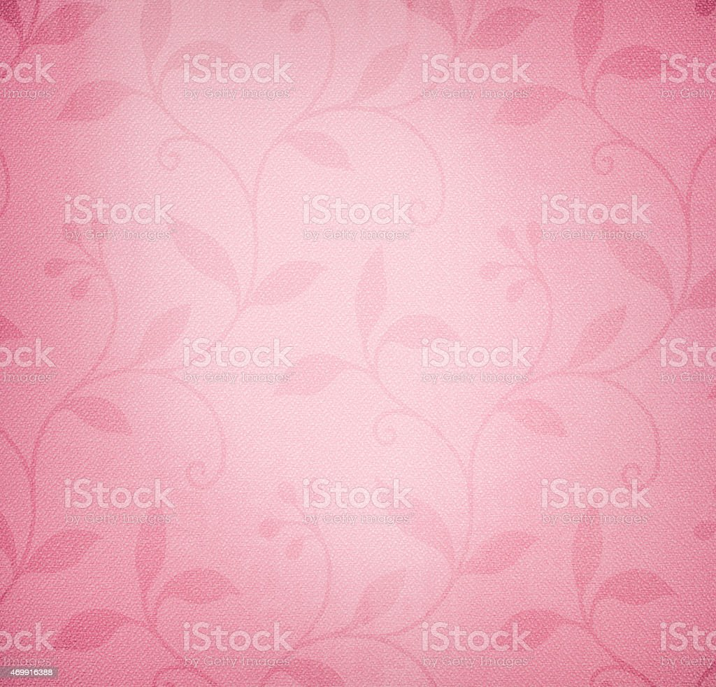 Pink wallpaper background with floral pattern stock photo