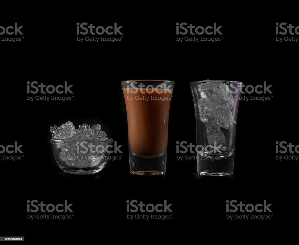 pink water drink in glass royalty-free stock photo