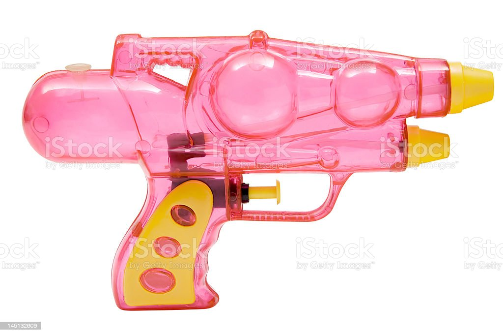Pink Water Pistol stock photo