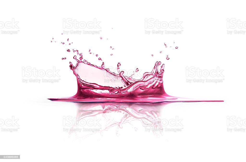 Pink water splash stock photo