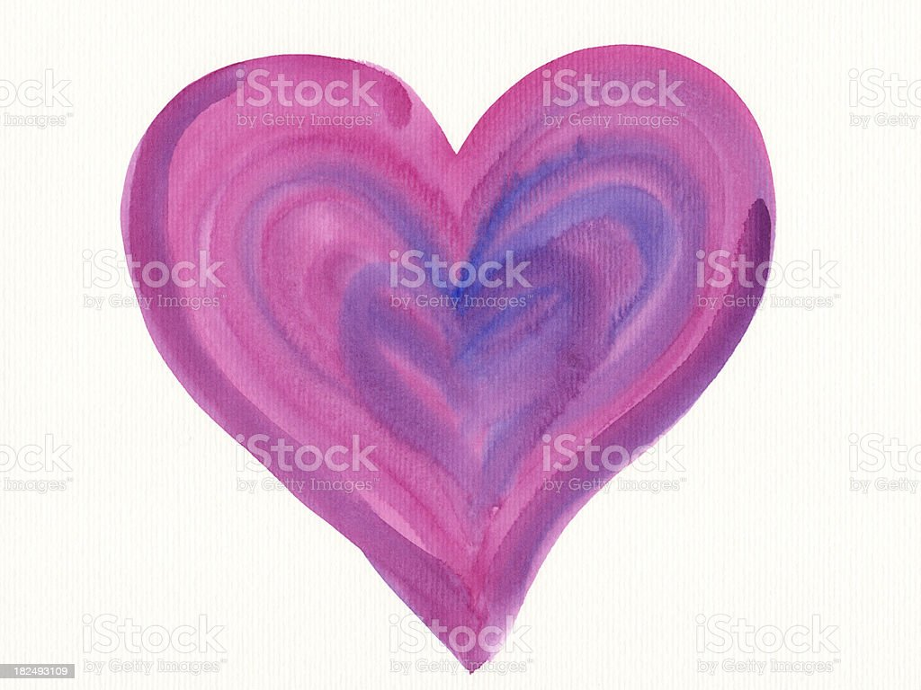 Pink watercolor heart royalty-free stock vector art