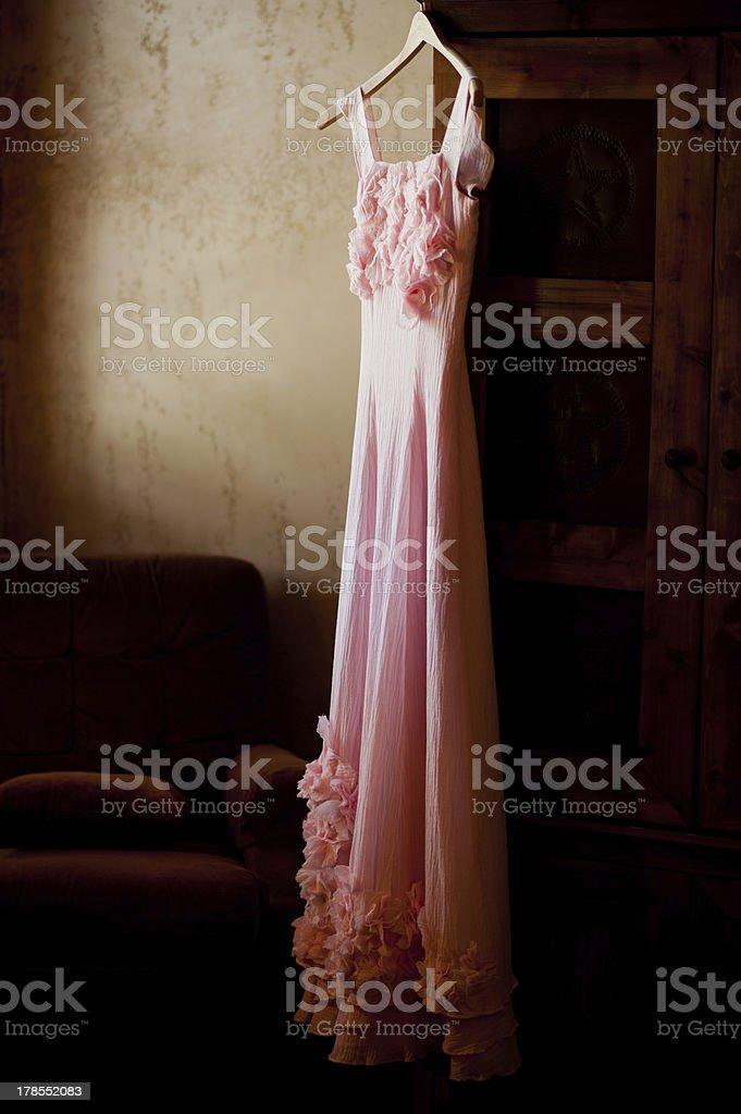 pink wedding dress royalty-free stock photo