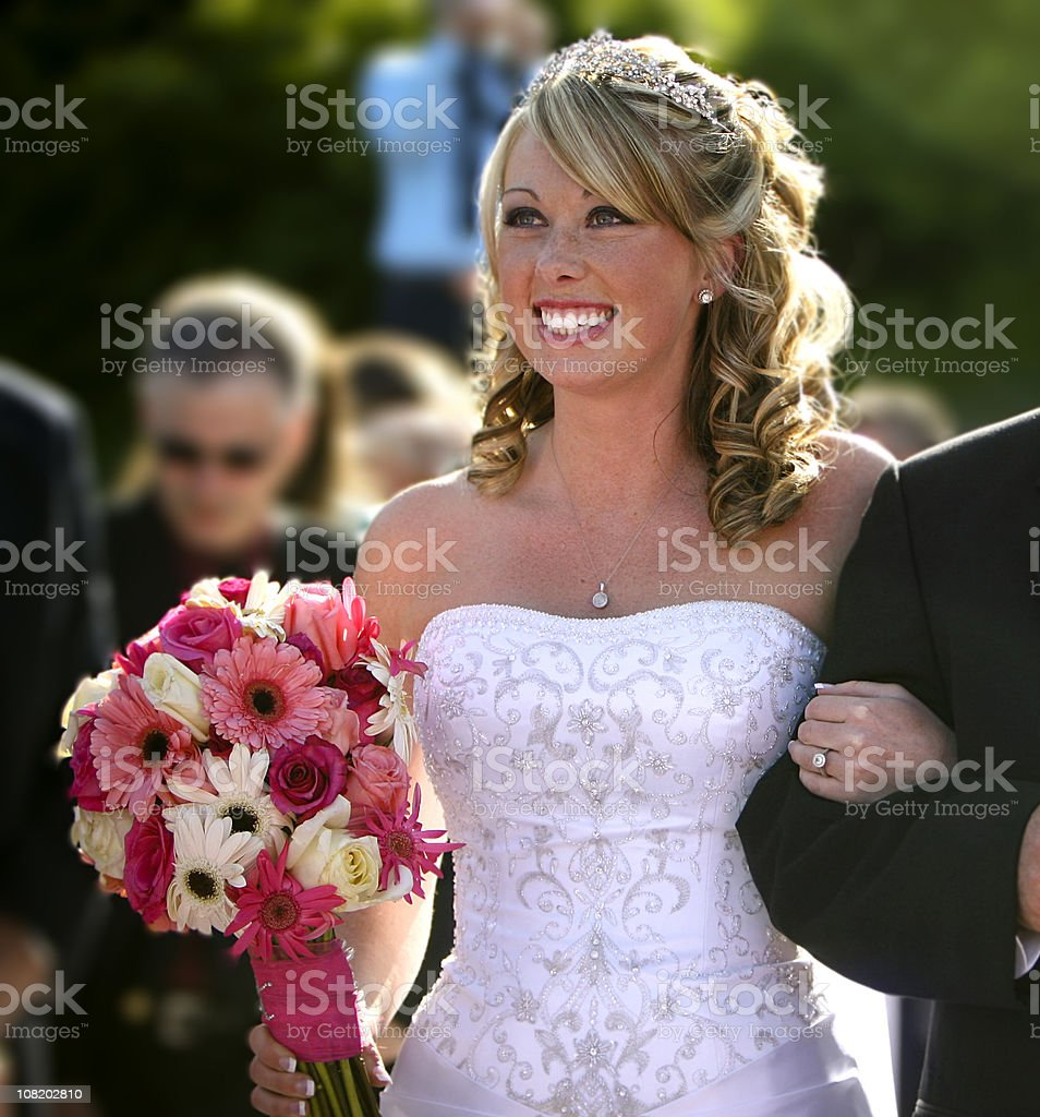 Pink Wedding Portraits royalty-free stock photo