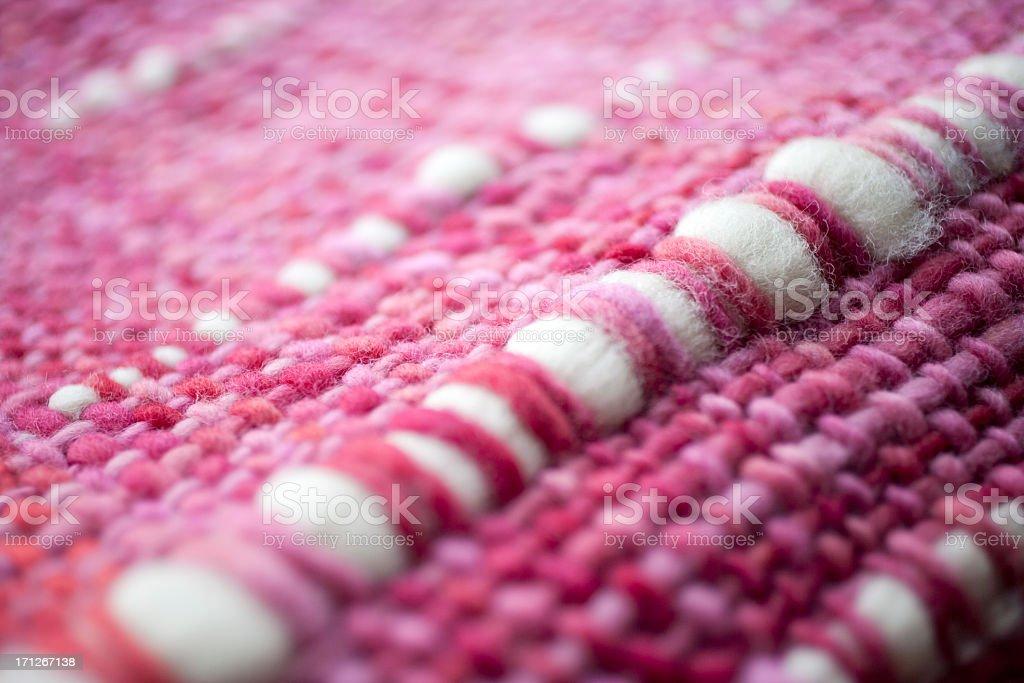 Pink whool macro stock photo